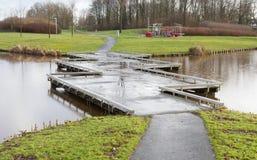 Unieke brug in Nederland Stock Afbeeldingen