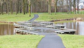 Unieke brug in Nederland Royalty-vrije Stock Fotografie