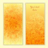 Unieke die patroonkaart met kunstbloemen wordt geplaatst. Stock Afbeelding
