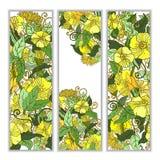 Unieke die patroonkaart met kunstbloemen wordt geplaatst Royalty-vrije Stock Fotografie