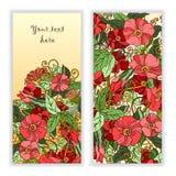 Unieke die patroonkaart met kunstbloemen wordt geplaatst Stock Fotografie