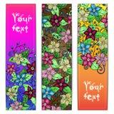 Unieke die patroonkaart met kunstbloemen wordt geplaatst Royalty-vrije Stock Foto
