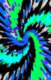 Unieke donkere kleurrijke achtergrond De vlekken divergeren van het midden in een spiraal aan de randen royalty-vrije illustratie