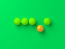 Unieke enige oranje bal stock illustratie