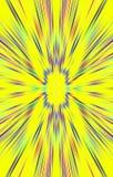 Unieke gele achtergrond De stroken divergeren van het midden aan de randen stock illustratie