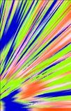 Unieke geweven achtergrond Vlekken en stroken die van de lagere hoek aan de randen divergeren vector illustratie