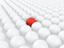 Unieke golfbal Royalty-vrije Stock Afbeeldingen
