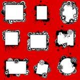Unieke Grunge ploetert Geplaatste Kaarten Royalty-vrije Stock Afbeeldingen