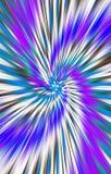 Unieke heldere kleurrijke achtergrond De stroken en de vlekken divergeren van het midden in een spiraal aan de randen stock illustratie