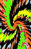 Unieke heldere kleurrijke achtergrond De vlekken divergeren van het midden in een spiraal aan de randen royalty-vrije illustratie
