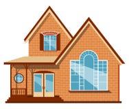 Unieke huisillustratie Stock Afbeeldingen