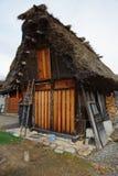 Unieke Huisstijl van Ogimachi-Dorp in Shirakawago Stock Afbeeldingen