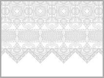 Unieke kleurende boekpagina voor volwassenen - bloem royalty-vrije illustratie