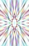 Unieke kleurrijke achtergrond De stroken divergeren van het midden aan de randen royalty-vrije illustratie