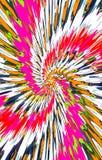 Unieke kleurrijke achtergrond De vlekken divergeren van het midden in een spiraal aan de randen royalty-vrije illustratie
