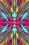 Unieke kleurrijke achtergrond De vlekken en de stroken divergeren aan de randen vector illustratie