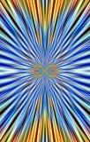 Unieke kleurrijke achtergrond De vouwen en de stroken divergeren aan de randen Royalty-vrije Stock Fotografie