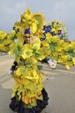 Unieke kostuums met het thema van gele orchideeën Stock Fotografie