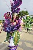 Unieke kostuums met het thema van purpere orchideeën Stock Foto's