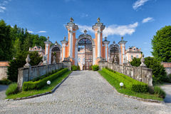 Unieke Rococo'smantion in Nové Hrady Royalty-vrije Stock Foto