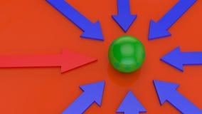 Unieke rode pijlen Royalty-vrije Stock Afbeelding