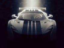 Unieke stedelijke supercar sporten - epische verlichting royalty-vrije illustratie
