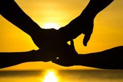 Unificazione delle mani Fotografia Stock Libera da Diritti