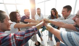 Unified business team.the concept of teamwork. Photo with copy space Stock Photography