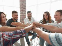Unified business team.the concept of teamwork. Photo with copy space Stock Photos