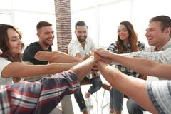 Unified business team.the concept of teamwork. Photo with copy space Royalty Free Stock Photos
