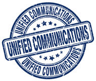 Unified communications blue stamp Royalty Free Stock Photos