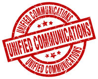 Unified communications round red stamp Stock Image