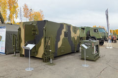 A unified multi-purpose body container. NIZHNY TAGIL, RUSSIA - SEP 26, 2013: The international exhibition of armament, military equipment and ammunition RUSSIA Royalty Free Stock Image