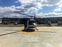 UNIFIL直升机旅行在200916的南黎巴嫩 图库摄影