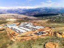 UNIFIL直升机旅行在200916的南黎巴嫩 免版税库存图片
