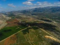 UNIFIL直升机旅行在200916的南黎巴嫩 免版税库存照片
