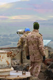 UNIFIL observers Stock Photo