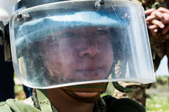 Unifil soldier. Italian soldier with the task of cleaning up the minefields Stock Photos