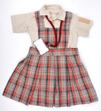 Uniform. Front view of a school girl uniform Royalty Free Stock Photo
