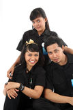 Uniform. People in uniform smiling looking at camera Stock Photo
