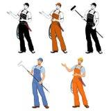 uniform arbetare vektor illustrationer