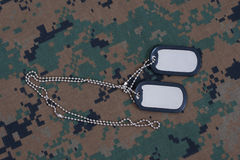 Uniform with blank dog tags Royalty Free Stock Photography