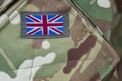 uniform brittiska soldater för armé Arkivbild