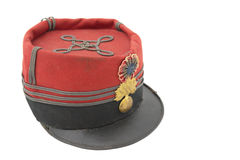 Uniform cap of French grenadier Stock Photo