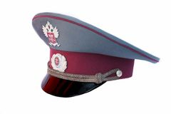 Uniform cap of the Russian tax service Stock Photography