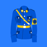 Uniform of European union. Uniform in colors of European Union as metaphor of EU and its tendencies of greater integration and centralization as some competences vector illustration