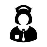 Uniform girl vector icon Stock Photo