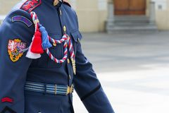 Uniform of the guard of Prague Castle. Czech Republic stock photography