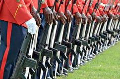 In uniform handen Stock Afbeelding