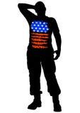 Uniform man eight Stock Image